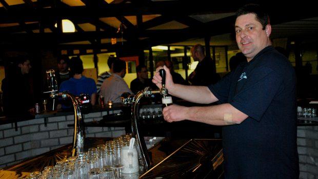 Een van de vele biertjes die Jaap de afgelopen jaren tapte.